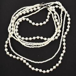 Naszyjnik perły i koraliki