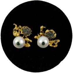 MARGOT STUDIO kolczyki z perłami i szafirami
