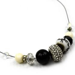 Naszyjnik z masą perłową i cyrkoniami